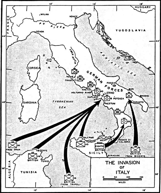 Map of the Invasion of Italy