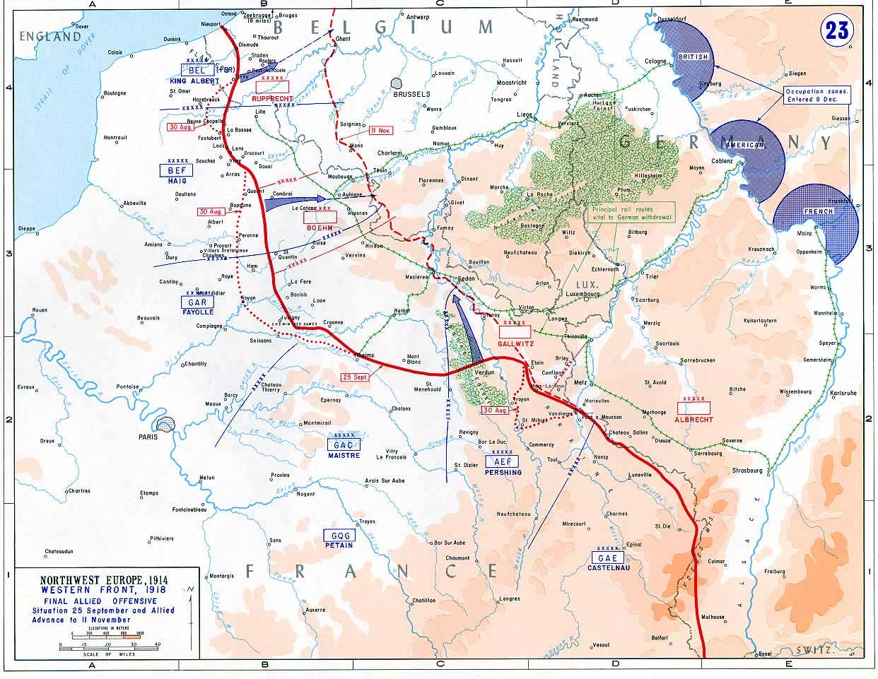Western front 1918 - Final allied offensive