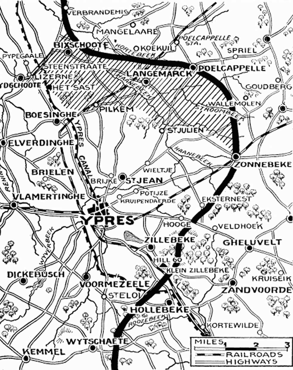 30th April - Positions before the British pullback