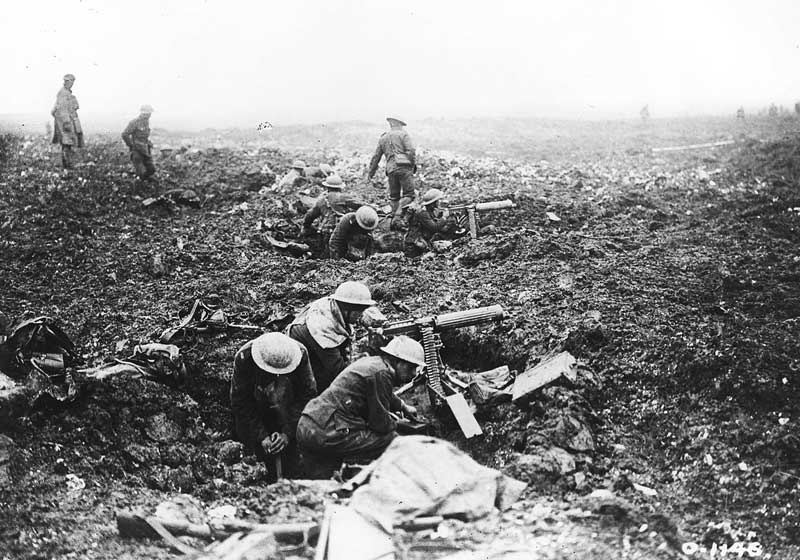 Canadian machine gun squad at Vimy Ridge