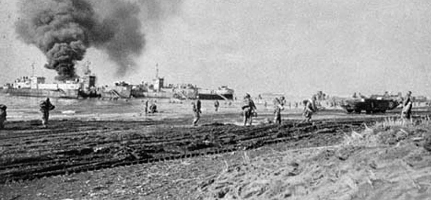 Operation Shingle - US troops landing in Anzio